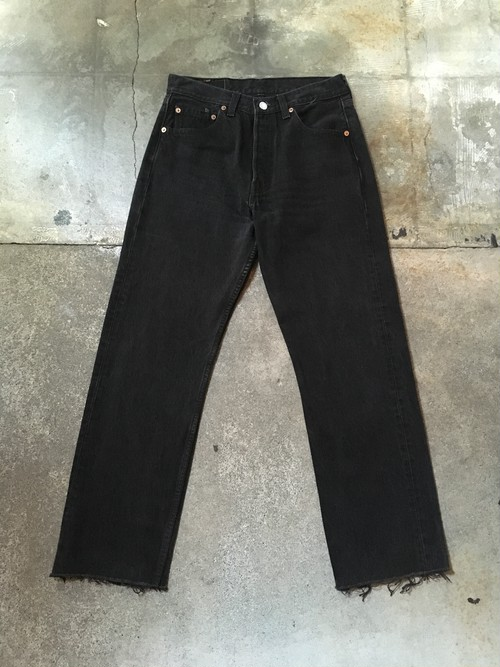 90s Levi's 501 black denim pants