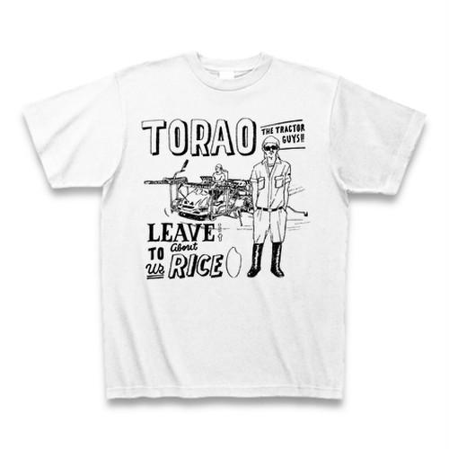 【銀シャリホワイト】若手米農家集団「トラ男」のオリジナルTシャツ