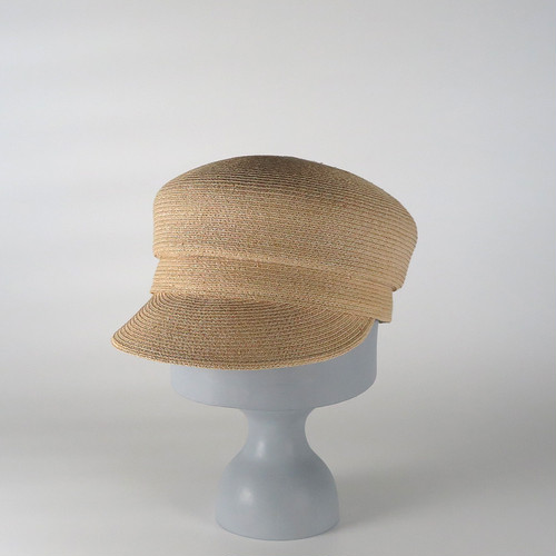 SS20-BE-4 Raffia Braid Marin Cap NAT