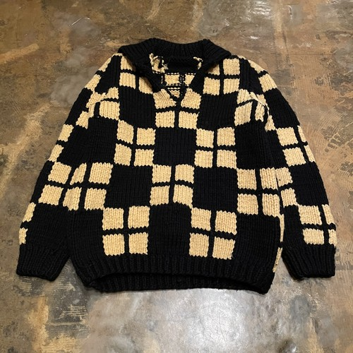 Plaid Old Wool Knit