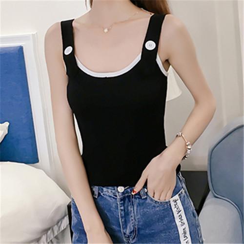 【トップス】清新新作韓国風ファッションシンプルキャミソール