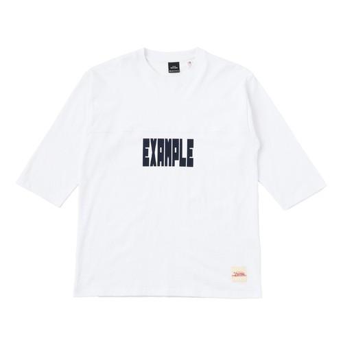 EXAMPLE FOOTBALL TEE / WHITE