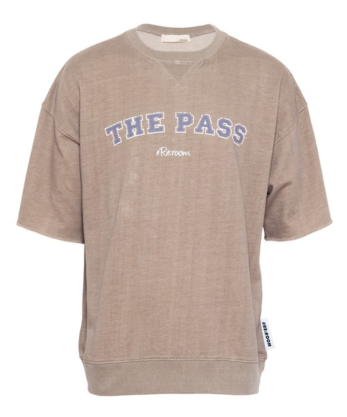 """WASHED VINTAGE SWEAT BIG T-shirt """"THE PASS""""[REC382]"""