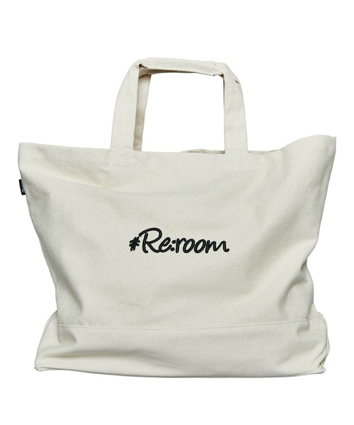 3D LOGO LARGE CANVAS TOTE BAG[REB037]
