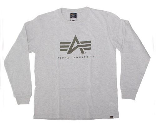 ALPHA INDUSTRIES アルファインダストリーズ TC1319 0023 A-M FLYNG A-MARK OATMEAL ストリート系コーディネイトの超万能型基本 Tシャツ L/S