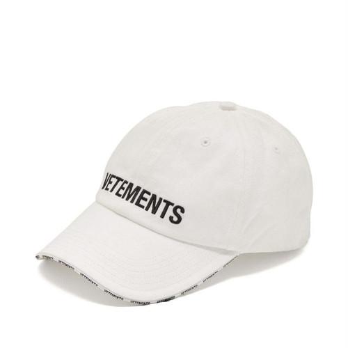 VETEMENTS LOGO CAP キャップ / WHITE / 2019AW