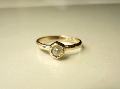 S様オーダーメイドご購入フォーム ナチュラルダイヤのK14のリング