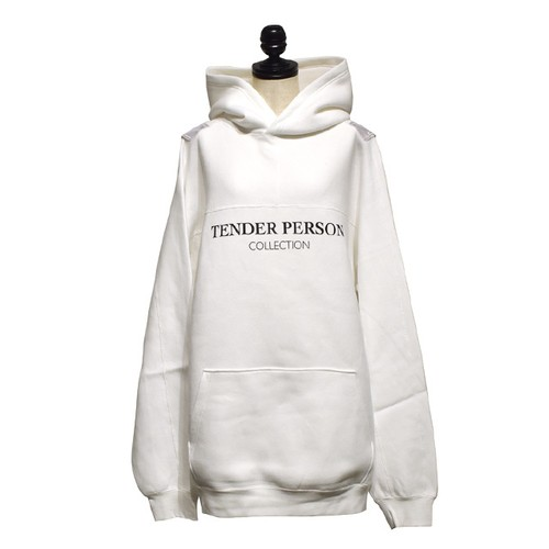 TENDER PERSON / HI-VIS BB HOODIE / White