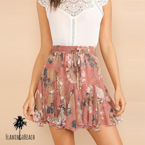 【FlamingoBeach】flower skirt スカート 11682