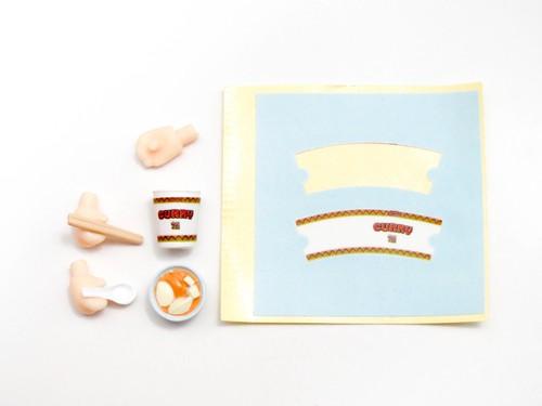 再入荷【903】 各務原なでしこ 小物パーツ カレー麺とお椀とお箸とれんげ ねんどろいど