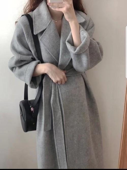 モノロングコート コート ロングコート  韓国ファッション