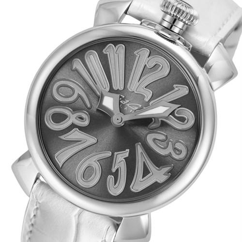 ガガミラノ GAGA MILANO マニュアーレ MANUALE 40mm 腕時計 クオーツ メンズ レディース 5020.9 メタリックグレー ホワイト グレー
