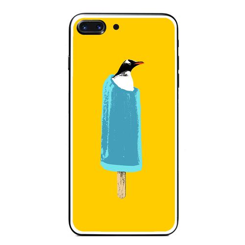 [強化ガラス仕上げ iPhone ケース]  cool biz penguin
