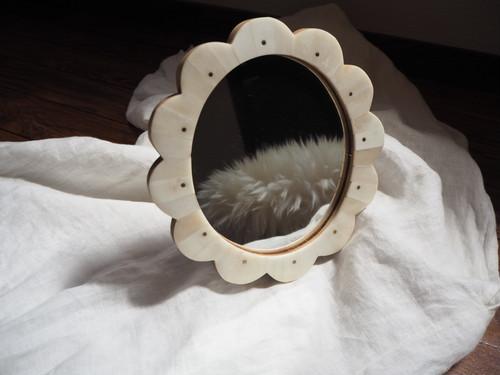bone flower mirror