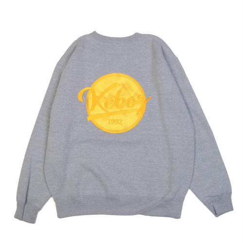 EMB BB LOGO 12.4oz CREWNECK (GREY)