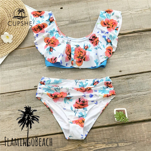 【FlamingoBeach】flower furil bikini ビキニ