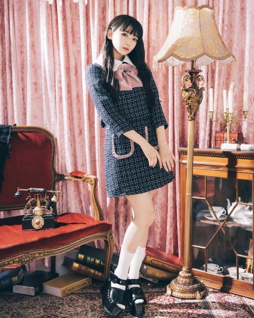 【ManonMimie】Fancy Tweed Set-Up / Skirt