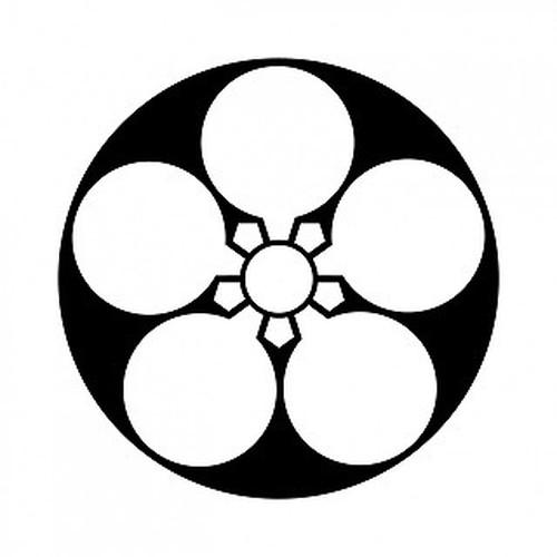 石持ち地抜き梅鉢 aiデータ
