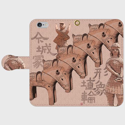 iphone6/6s 今城塚 形象埴輪(茶)スマホケース