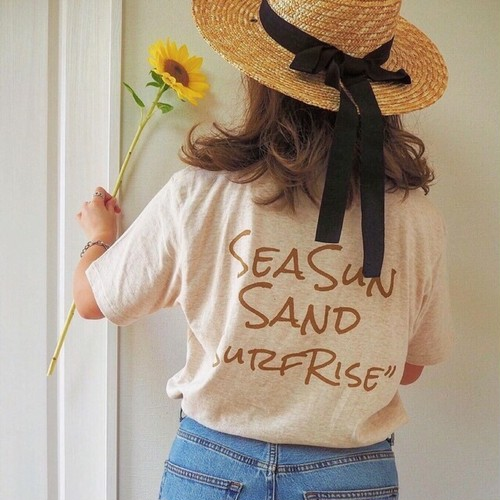 SeaSunSand Tee - Heather beige