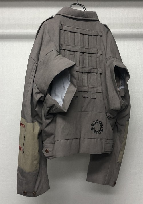 BERNHARD WILLHELM BACK ARM HOLE JACKET GREY