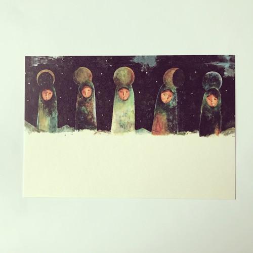 ポストカード「5人の月」
