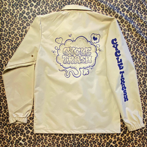"Cycle Trash Windbreaker Coaches Jacket ""Fart"", khaki"