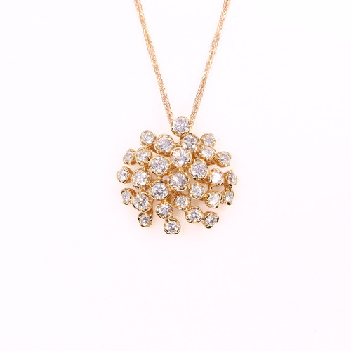 K18PG ダイヤモンド ペンダント
