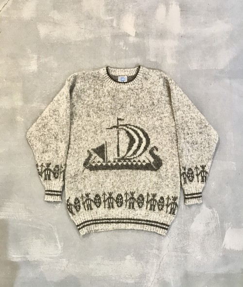 Iceland Lopi Pull Over / Made in Iceland [G-937]