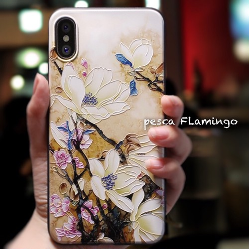 絵画 立体的 アート 調の iPhone ケース(商品管理番号:BA02)