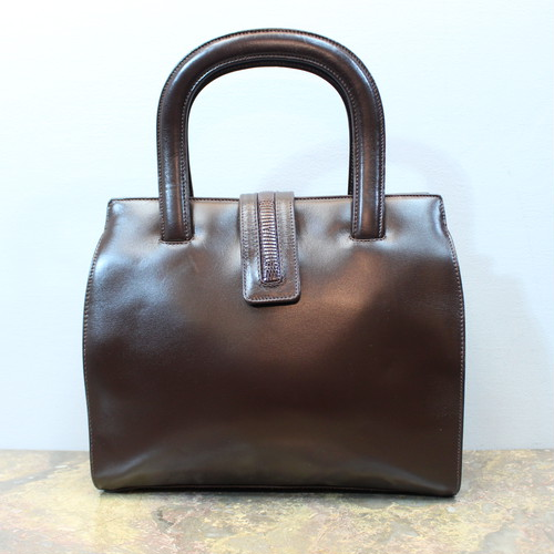 .OLD GUCCI LEATHER HAND BAG MADE IN ITALY/オールドグッチレザーハンドバッグ 2000000032764