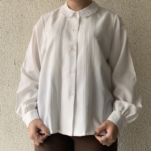 (LOOK) lace collar l/s blouse