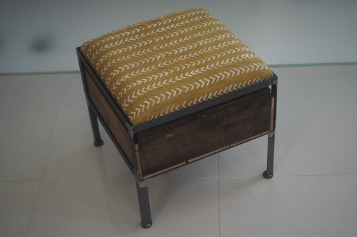 品番UAY1-102  1drawer ottoman[narrow/African yellow]