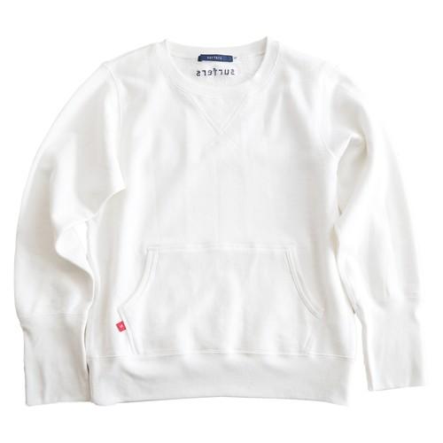 カンガルーポケット・スウェットシャツ(ホワイト)