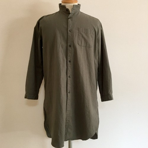 Linen Blended Cotton Rome Shirt Coat Khaki