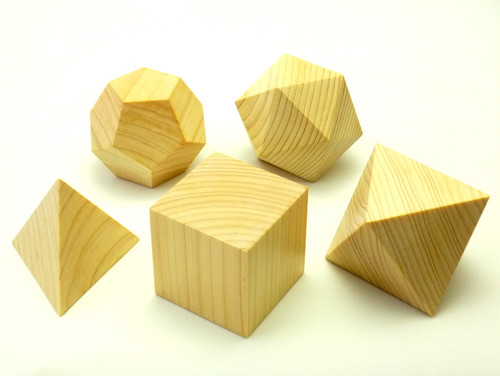WOOD PLATONIC SOLIDS
