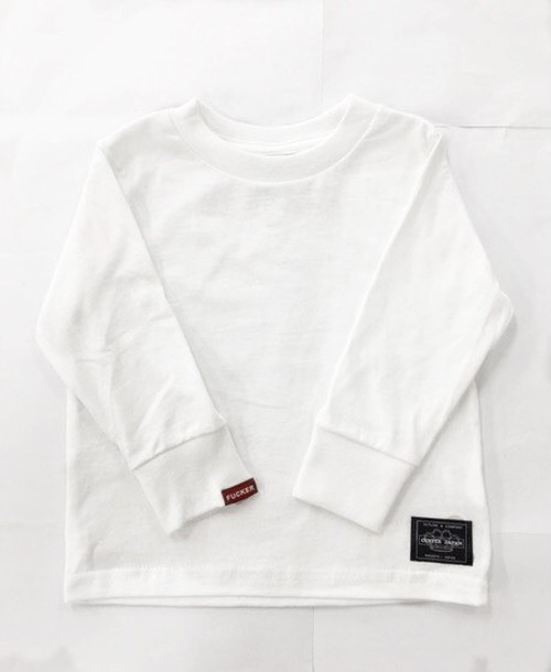 center japan box logo kids longT white