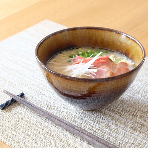 琥珀彩 麺鉢