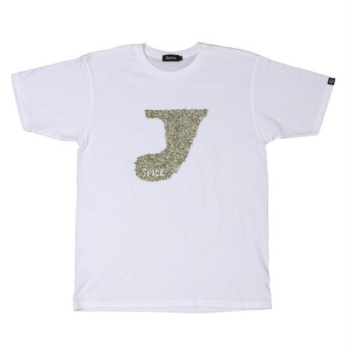 プリントTシャツ:ホワイト