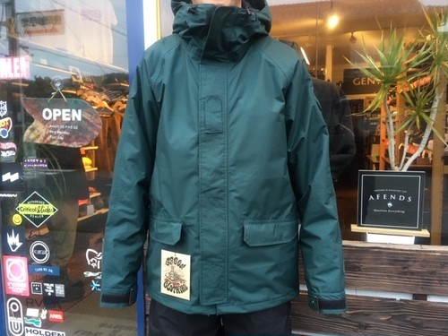 Green Clothing Peace Jacket  Green/Grey Lサイズ