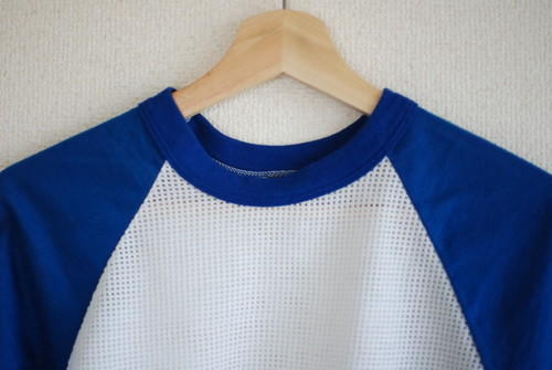 【WOMEN'S】USED Crop Mesh Raglan t-shirt