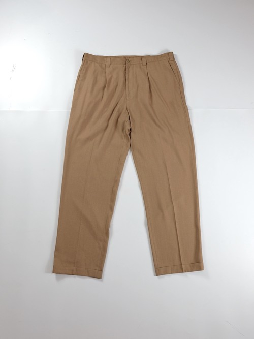 one tuck rayon slacks
