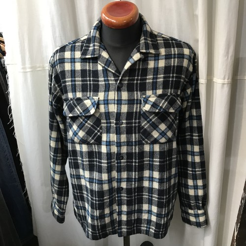 60's vintage Sir-Perb ウールシャツ ボックスシルエット 日本製 メンズL