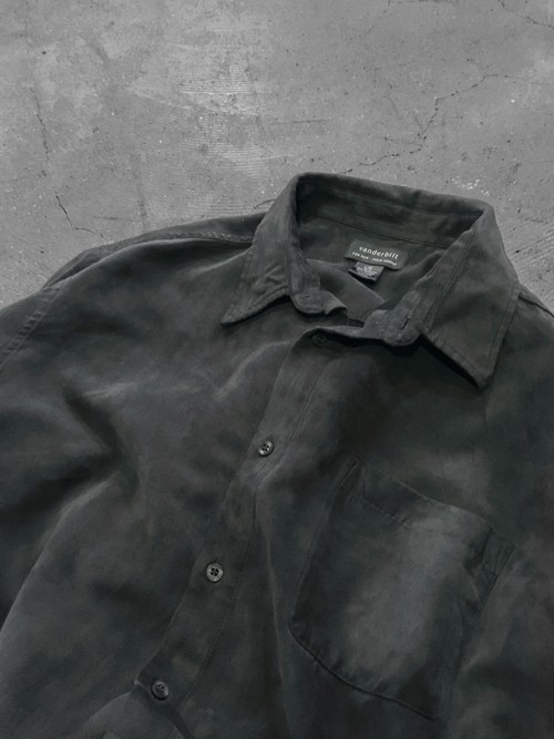 big silhouette sueded shirt