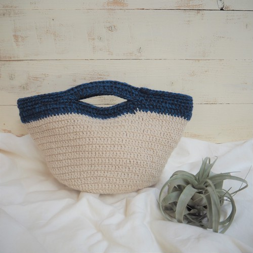 Knit 2way Bag《BLUE》
