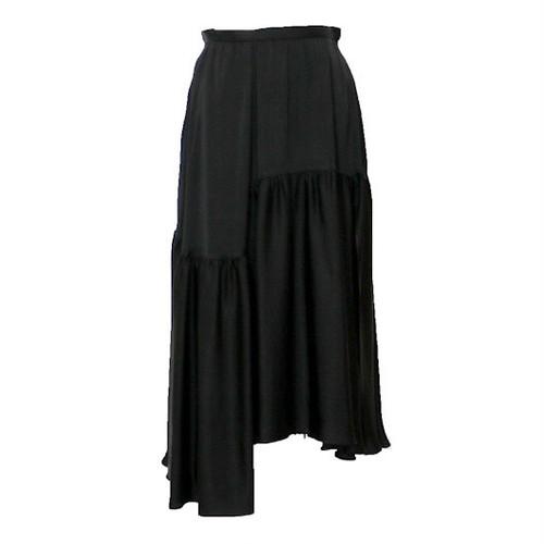 ロシャス ( ROCHAS ) ティアードスカート ブラック