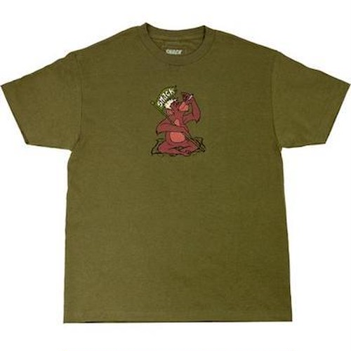 SNACK SKATEBOARDS / JUNGLE TEE / ARMY GREEN  / Tシャツ / Lサイズ