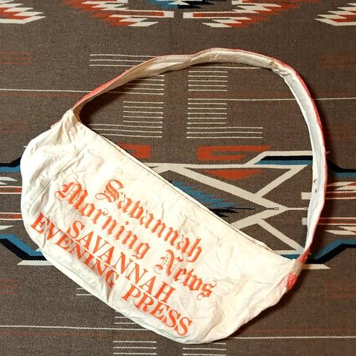 ビンテージ ニュースペーパーバッグ USAアメリカ製 ボディバッグ メッセンジャーバッグ