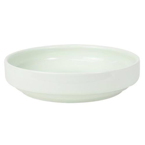 【1715-6220】強化磁器 17cm すくいやすい食器 ノア・アクア