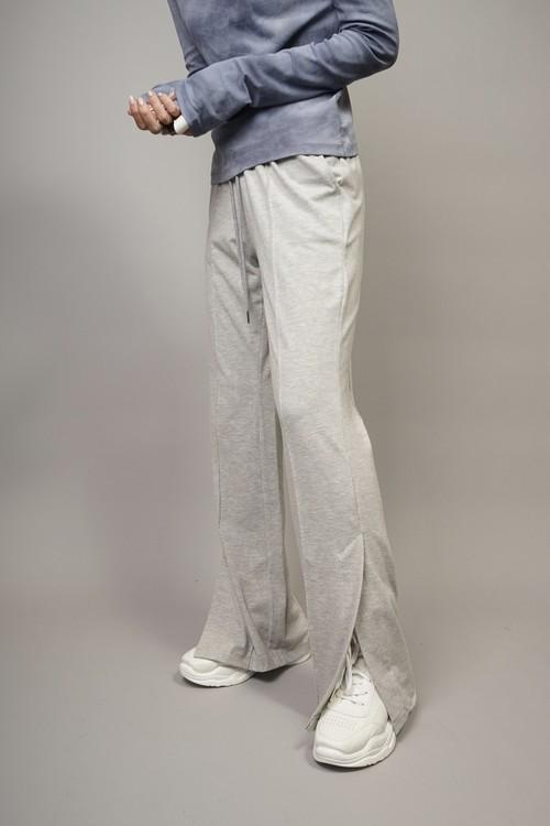 SLIT HEM SWEAT PANTS  (GRAY) 2104-93-45